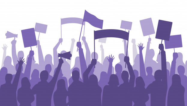 activists-protest-political-riot-sign-banners-people-holding-protests-placards-manifestation-banner_102902-1134